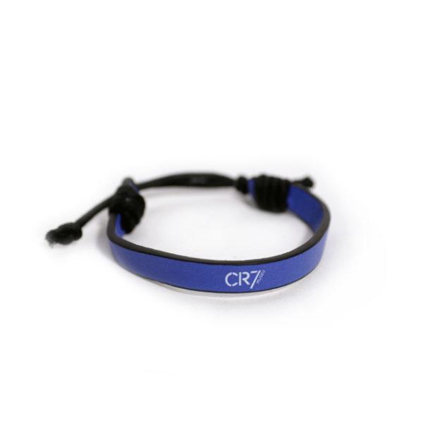 Bracelete poli-pele azul