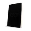 Caderno capa em pele preta